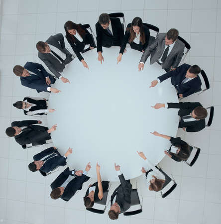 business team indicates the center of the round table.