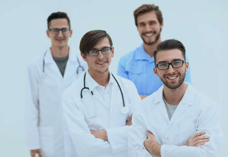 closeup.smiling team of practitioners