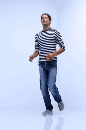 young man confidently runs towards his goal