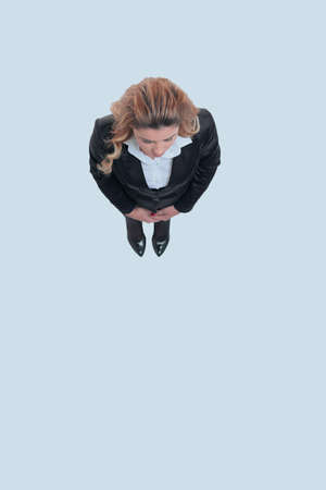 view from the top.modern business woman .isolated