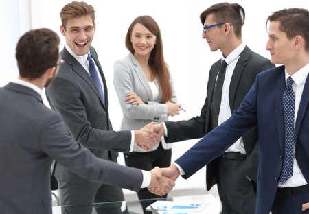 handshake business competitors Banco de Imagens