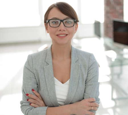 close up. portrait of a modern business woman.