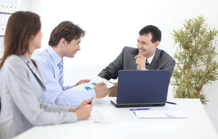 business team discusses work plan