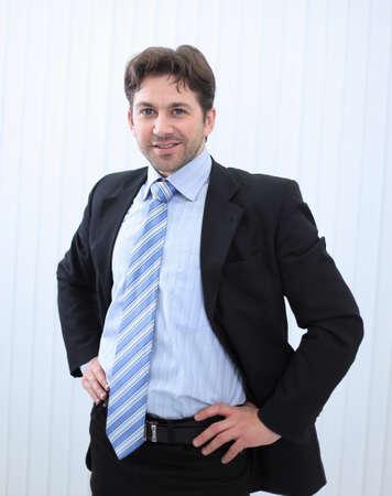 Portrait of happy smiling young businessman Stok Fotoğraf
