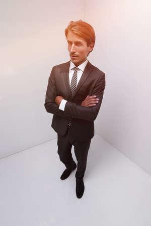 stylized photo of serious businessman Stock fotó
