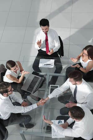 Business team discussing together business plans Stok Fotoğraf - 104568681