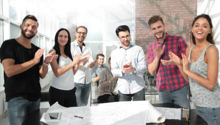 design team gave a standing ovation in the creative office