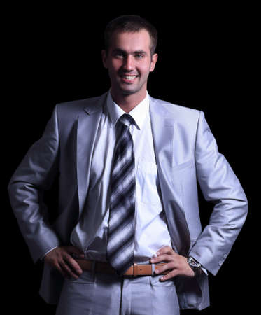 portrait of smiling successful businessman.