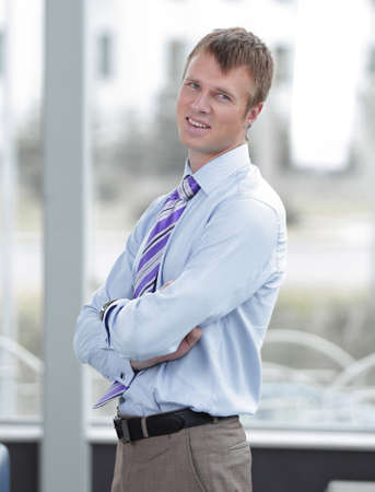 Portrait of a businessman with arms crossed Stock Photo