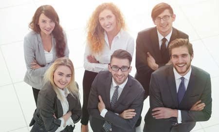 group of business people. Over white background 版權商用圖片