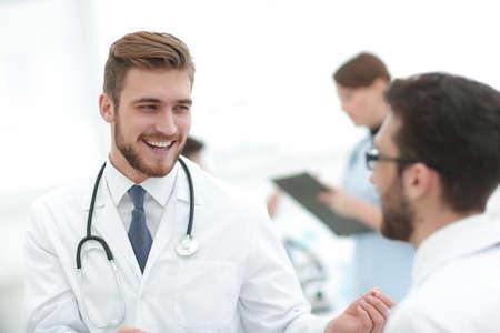 doctor and laboratory staff .