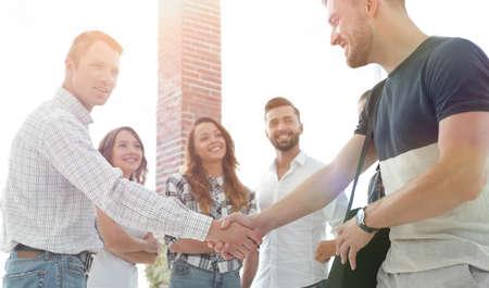 handshake business people