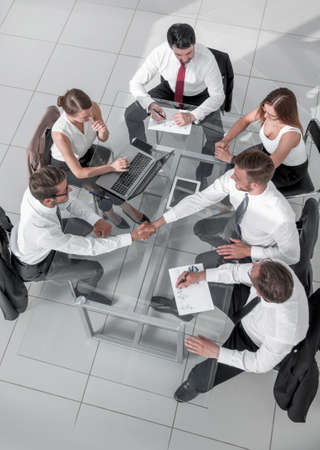 Business team discussing together business plans 写真素材