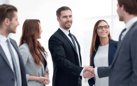 handshake to make a deal with your partner