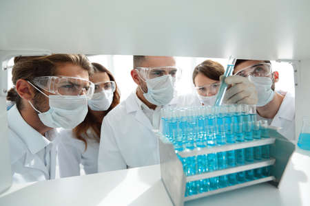 closeup.group of medical workers. Stock Photo