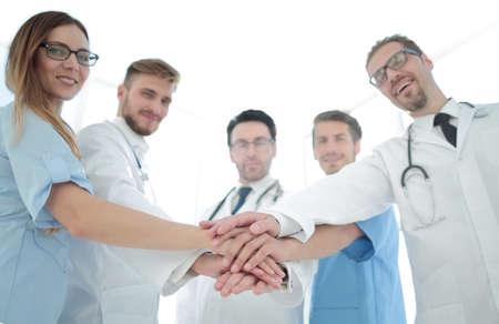 Doctors and nurses coordinate hands 版權商用圖片