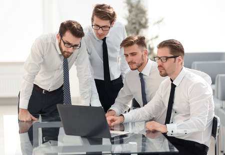 professional business team in a modern office