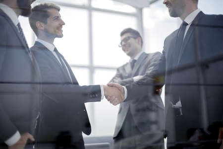 close up. handshake business people in the office