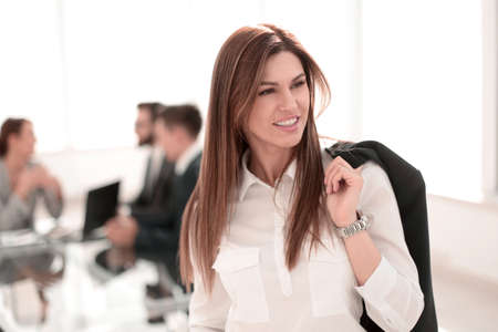 successful business woman on the background of the office