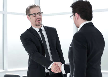 congratulating colleague with promotion