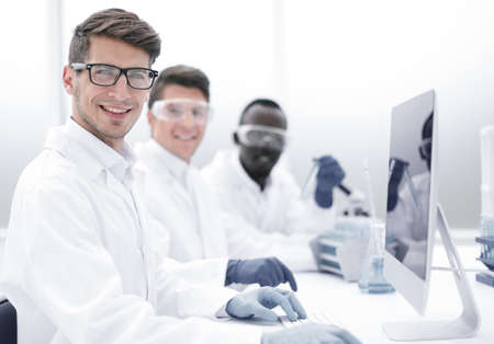 group of successful young scientists