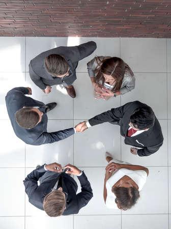 handshake business people.business background