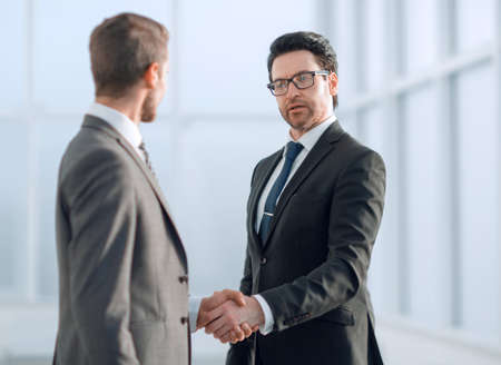 friendly handshake of business partners Stok Fotoğraf