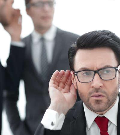 boss is trying to hear gossip Archivio Fotografico