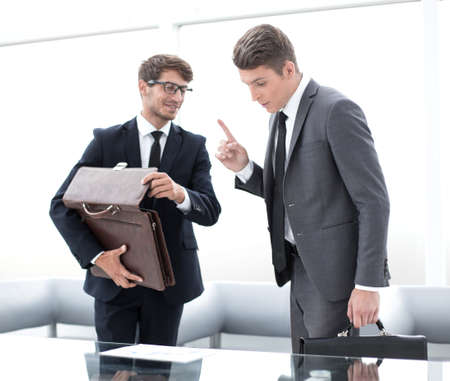 business people discuss the terms of the contract Stock Photo