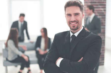 Portrait of a joyful business partner in the office