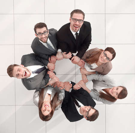 top view.professional business team looking at the camera Imagens