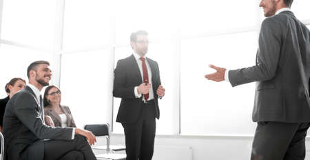 Group of  Corporate People Having a Business Meeting