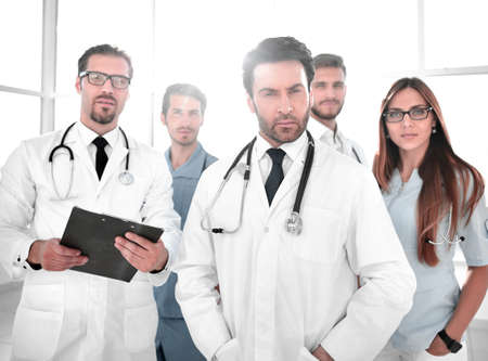 Young doctors looking at camera Stok Fotoğraf