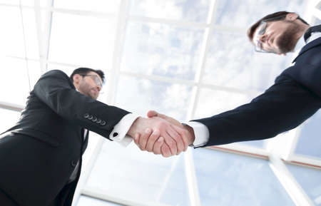 business background.confident handshake of business people Archivio Fotografico