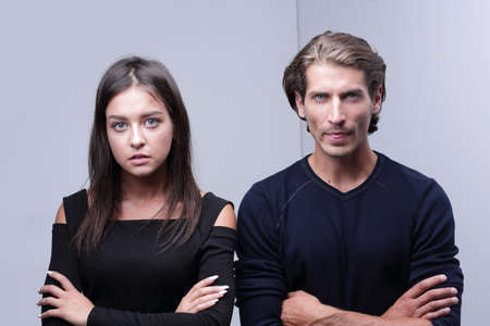 closeup.serious young couple. Stockfoto - 123097634