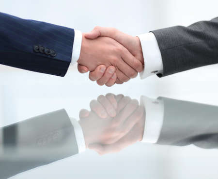 Business men making handshake. Business concept.