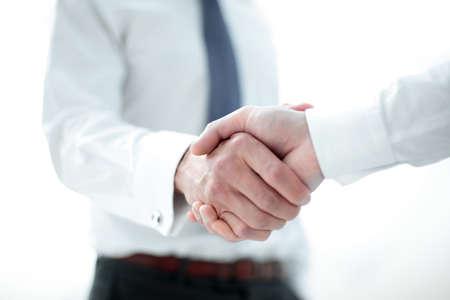 close up.handshake business people.