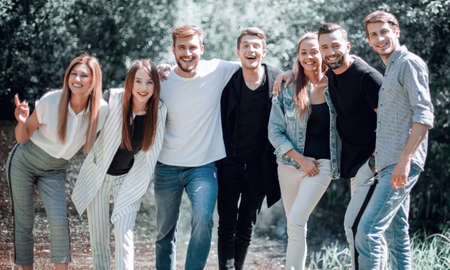 young business team spends free time together