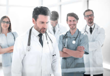 group of doctors looking at the screen in the meeting room