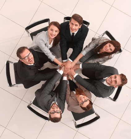 top view.smiling business team
