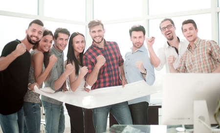 happy design team standing in office Imagens - 117332949