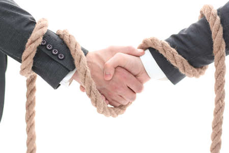 closeup .the associated handshake business partners.