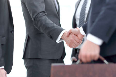 closeup.handshake of business partners.