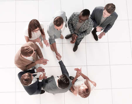 top view. meeting business partners in the office Stock fotó