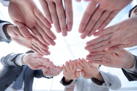 concept of teamwork and unity. Stock Photo