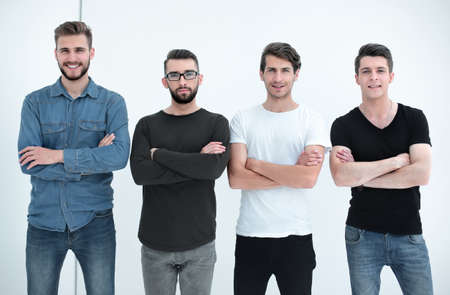 portrait of a group of modern young men