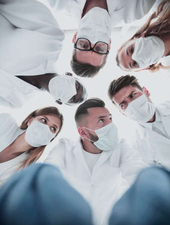 Surgeons standing above of the patient before surgery Stock Photo - 128701207
