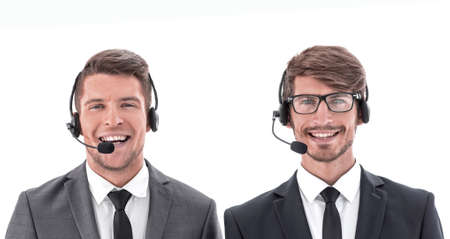 Telephone operators looking forward.