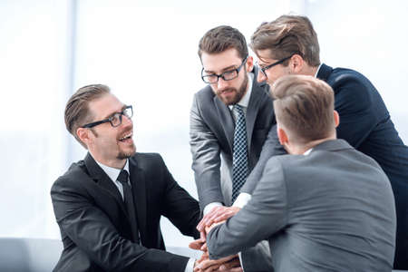business partners gesture show their unanimity