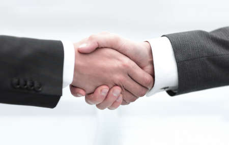 concept of reliable partnership. handshake